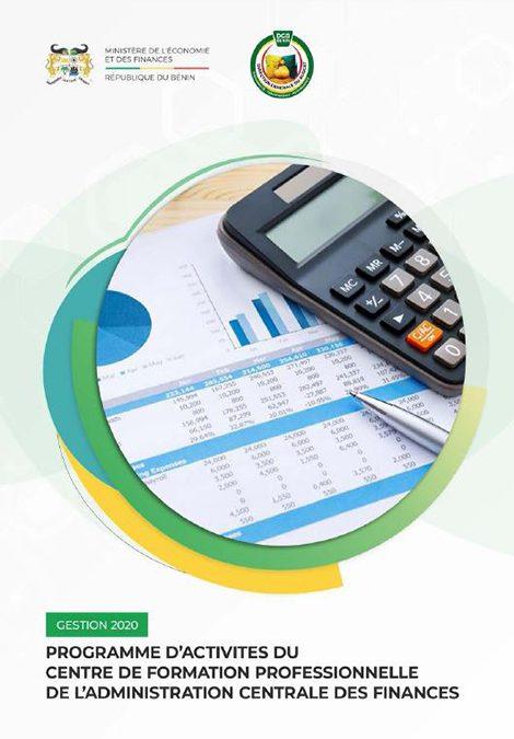 Programme d'activités du Centre de Formation Professionnelle de l'Administration Centrale des Finances
