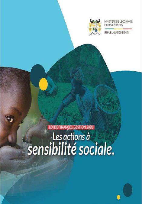 Les actions à sensibilité sociale de la loi de finances, gestion 2020.