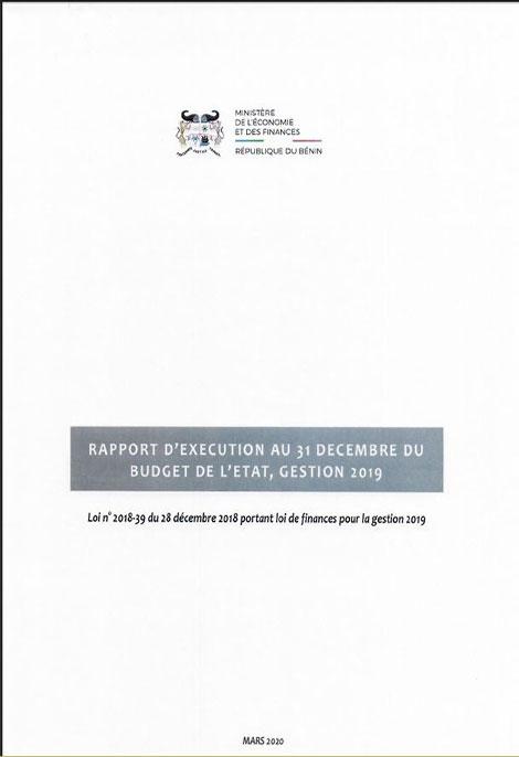 Rapport d'exécution au 31 décembre 2019