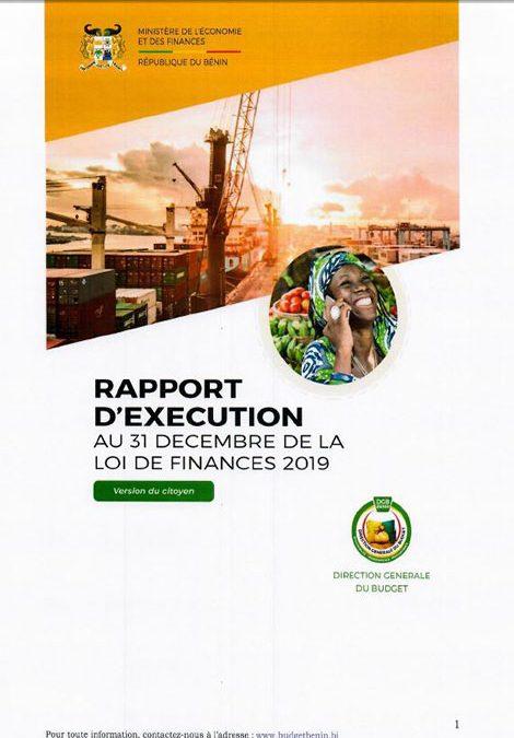 Rapport d'exécution au 31 décembre 2019 (version du citoyen)