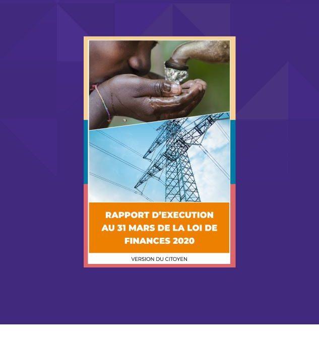 Version citoyenne du Rapport d'exécution du budget de l'Etat au 31 mars 2020