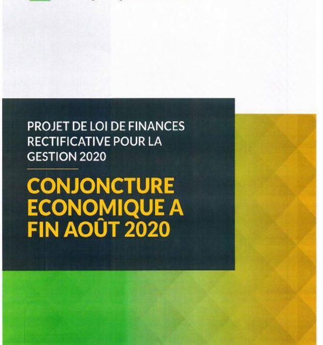 projet de loi de finances rectificative pour la gestion 2020, conjoncture économique à fin Août 2020