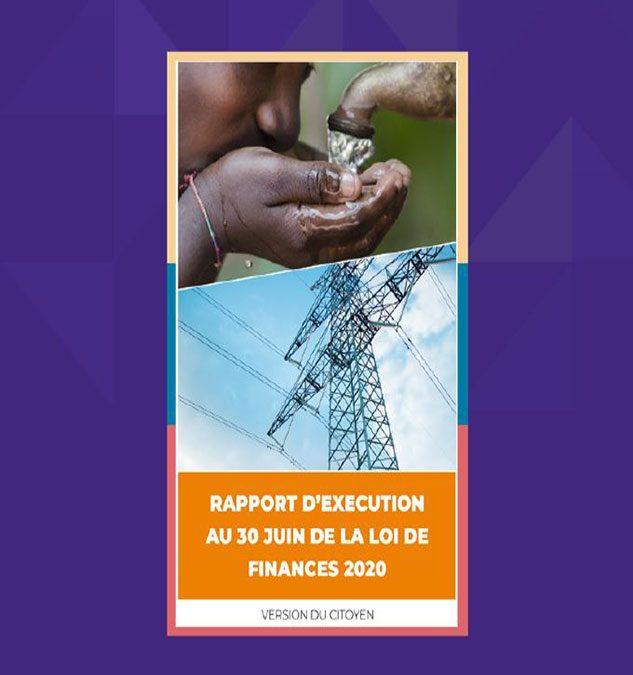 Version citoyenne du Rapport d'exécution au 30 juin du budget de l'Etat pour la Gestion 2020