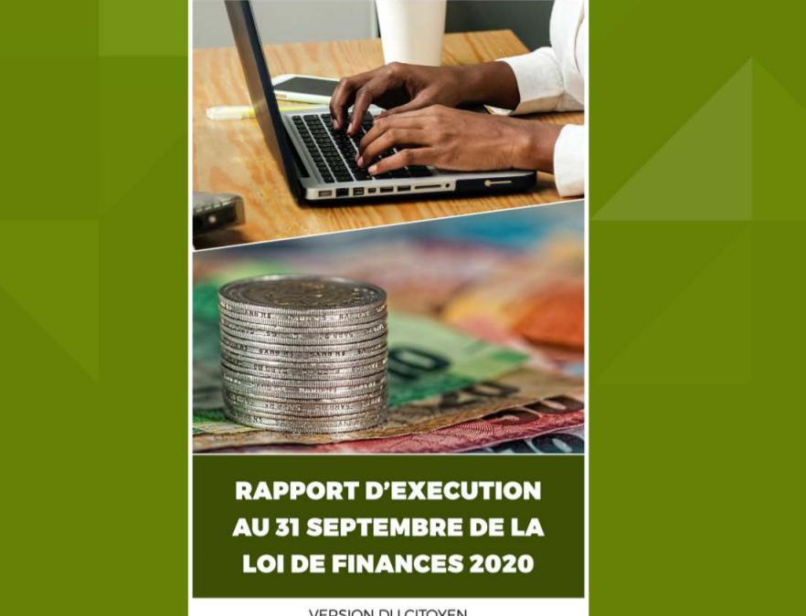 Version citoyenne du Rapport d'exécution au 30 septembre de la Loi de Finances pour la gestion 2020