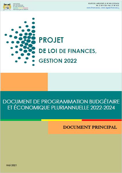 Document de Programmation Budgétaire et Economique Pluriannuelle 2022-2024