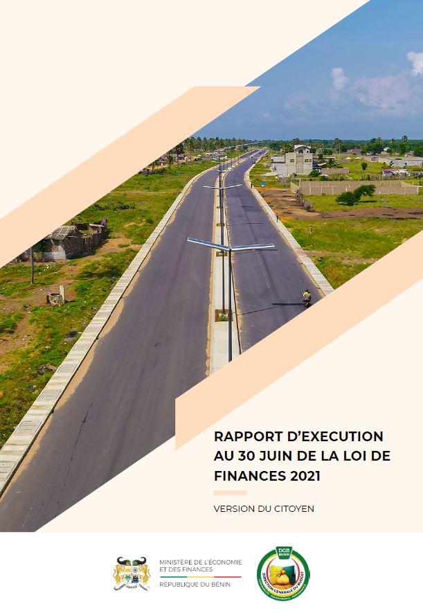 Version citoyenne du Rapport d'exécution de la loi de finances 2021, au 30 Juin 2021